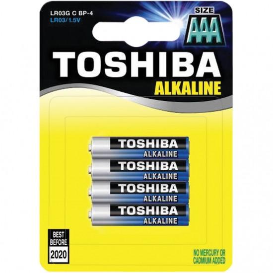 Батерия алкална TOSHIBA LR03 4 броя на блистер, Батерии