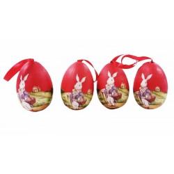 Яйца с декорация 7см 4 броя в плик